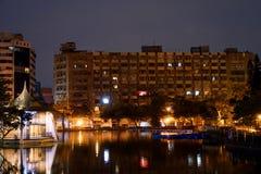 Micnight на парке taichung, Тайване стоковое фото