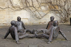 Mico Kaufmans sculpture Touching Souls Stock Photography