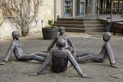 Mico Kaufmans sculpture Touching Souls Royalty Free Stock Photos