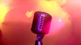 Micrófono. almacen de metraje de vídeo