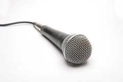 Micrófono aislado Foto de archivo libre de regalías