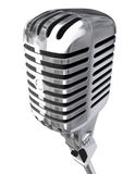 Micrófono aislado Fotos de archivo libres de regalías