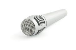 Micrófono aislado en blanco Foto de archivo libre de regalías