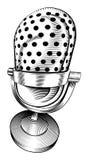Micrófono blanco y negro Foto de archivo libre de regalías