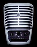 Micrófono clásico grande y simétrico para el cantante Fotografía de archivo libre de regalías