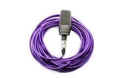 Micrófono con el alambre Imagen de archivo libre de regalías