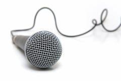 Micrófono conectado fotografía de archivo libre de regalías