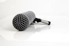 Micrófono de auge Foto de archivo libre de regalías