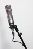 Micrófono de condensador en blanco Fotografía de archivo