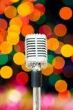 Micrófono de la vendimia imagen de archivo libre de regalías