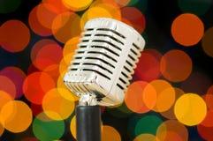 Micrófono de la vendimia imágenes de archivo libres de regalías