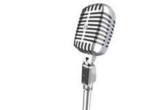 micrófono de la vendimia 3d Fotografía de archivo