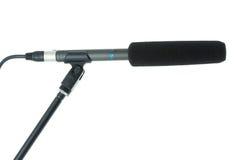 Micrófono del arma con el parabrisas Imagen de archivo
