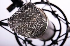 Micrófono del estudio Fotografía de archivo libre de regalías