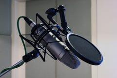 Micrófono del estudio Fotografía de archivo