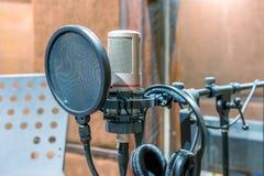 Micrófono del estudio Imágenes de archivo libres de regalías