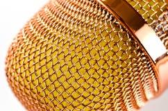 Micrófono del Karaoke con color rosado hermoso del altavoz incorporado nuevo suavemente foto de archivo libre de regalías