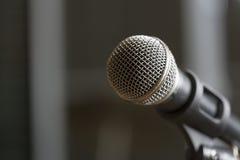 Micrófono en foco seleccionado Foto de archivo