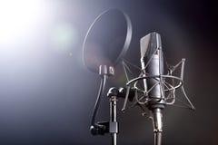 Micrófono en soporte Imágenes de archivo libres de regalías