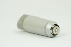 Micrófono en un fondo blanco Fotos de archivo