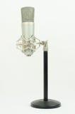 Micrófono en un soporte negro Imagen de archivo libre de regalías