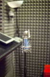 Micrófono, estudios de grabación Imagenes de archivo