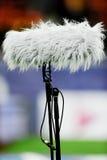 Micrófono grande en arena de deporte fotos de archivo