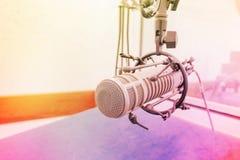 Micrófono, haciendo suave ligero y la falta de definición Imagen de archivo