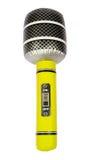 Micrófono inflable amarillo del juguete Fotografía de archivo