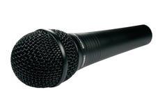 Micrófono negro aislado Foto de archivo