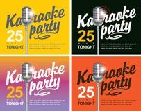 Micrófono para los partidos del Karaoke ilustración del vector