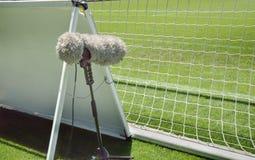 Micrófono peludo del deporte fotografía de archivo