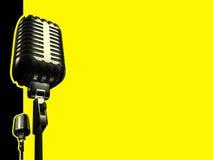 Micrófono retro Fotos de archivo libres de regalías