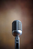 Micrófono retro viejo Foto de archivo libre de regalías