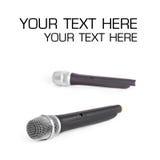 Micrófono sin cuerda Foto de archivo libre de regalías