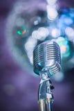 Micrófono viejo del jazz del estilo Imagen de archivo
