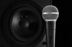 Micrófono y altavoz Fotografía de archivo libre de regalías