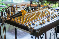 Micrófono y botones Foto de archivo libre de regalías