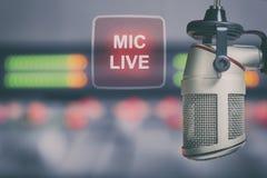 Micrófono y consola audio Imagenes de archivo