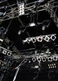 Micrófono y lámparas Fotografía de archivo