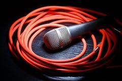 Micrófono y whire Imagen de archivo