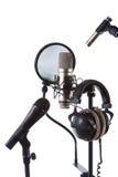 Micrófonos Fotos de archivo libres de regalías