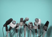 micrófonos Fotos de archivo
