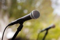 micrófonos Imagenes de archivo