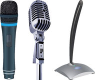 Micrófonos Fotografía de archivo