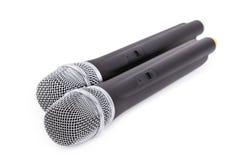 Micrófonos sin cuerda Fotografía de archivo libre de regalías