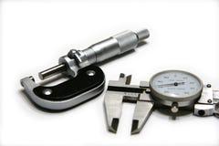 Micrómetro y calibrador Imagen de archivo
