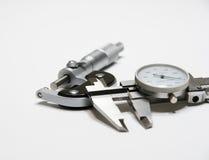 Micrômetro e compasso de calibre fotografia de stock royalty free