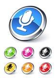 Micr3ofono del icono Fotos de archivo libres de regalías