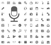 Micrafon icon. Media, Music and Communication vector illustration icon set. Set of universal icons. Set of 64 icons.  Royalty Free Illustration